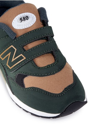 Detail View - Click To Enlarge - New Balance - '580' canvas trim toddler sneakers