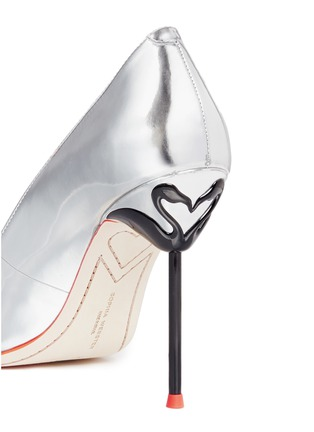 Detail View - Click To Enlarge - Sophia Webster - 'Coco Flamingo' metallic mirror leather pumps