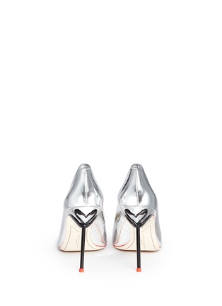 Back View - Click To Enlarge - Sophia Webster - 'Coco Flamingo' metallic mirror leather pumps