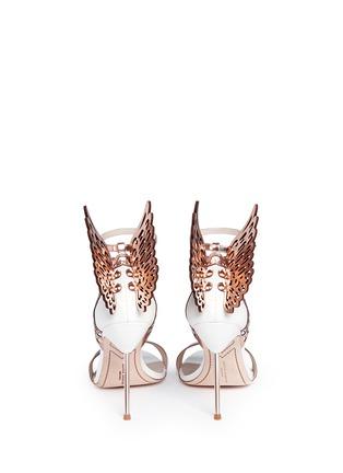 Back View - Click To Enlarge - SOPHIA WEBSTER - 'Evangeline' 3D angel wing appliqué leather sandals