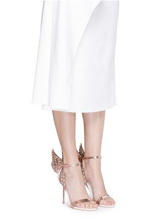 Figure View - Click To Enlarge - SOPHIA WEBSTER - 'Evangeline' 3D angel wing appliqué leather sandals
