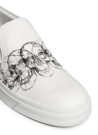 Detail View - Click To Enlarge - Alexander McQueen - Skull sketch leather skate slip-ons