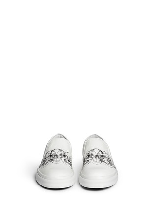Front View - Click To Enlarge - Alexander McQueen - Skull sketch leather skate slip-ons