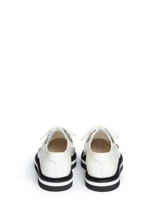 Back View - Click To Enlarge - Alexander McQueen - Woven trim leather creeper shoes