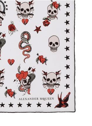 Detail View - Click To Enlarge - Alexander McQueen - Skull tattoo silk bandana