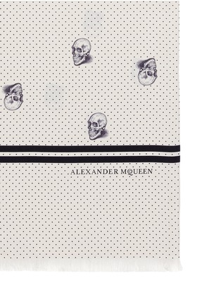 Detail View - Click To Enlarge - Alexander McQueen - Pin dot skull print scarf