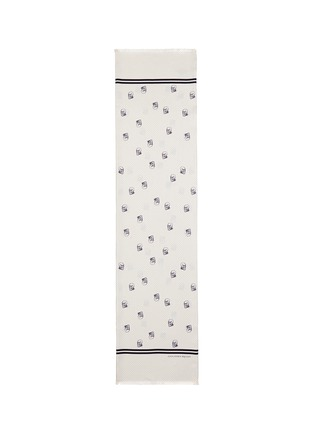 Main View - Click To Enlarge - Alexander McQueen - Pin dot skull print scarf
