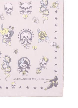 Detail View - Click To Enlarge - Alexander McQueen - Skull tattoo silk chiffon scarf