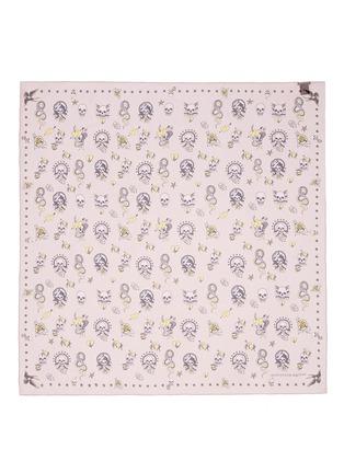 Main View - Click To Enlarge - Alexander McQueen - Skull tattoo silk chiffon scarf