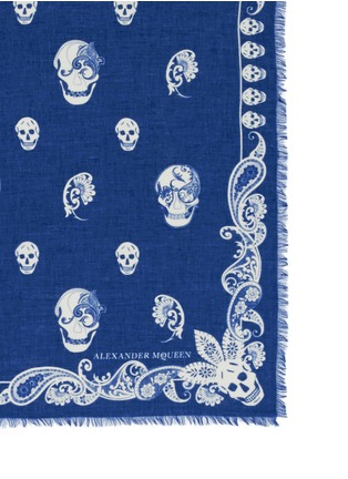 Detail View - Click To Enlarge - Alexander McQueen - Paisley skull modal-silk scarf