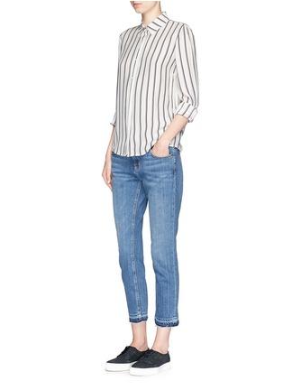 Figure View - Click To Enlarge - Frame Denim - 'Le Classic' stripe silk shirt