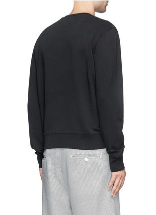 Back View - Click To Enlarge - Acne Studios - 'Casey' slogan print cotton sweater