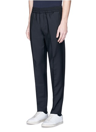 Front View - Click To Enlarge - Acne Studios - 'Ryder' stretch waist wool-mohair pants