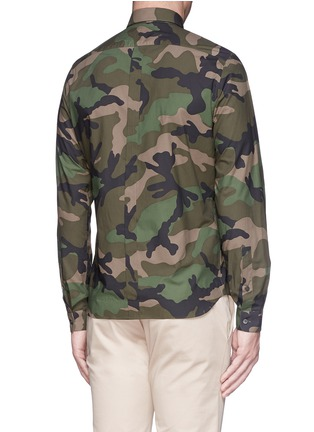 Back View - Click To Enlarge - Valentino - Camouflage print cotton poplin shirt