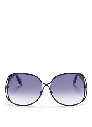 Main View - Click To Enlarge - Victoria Beckham - Halo frame oversize metal sunglasses
