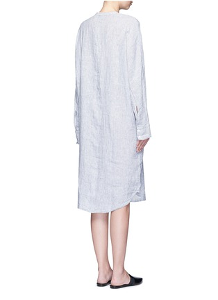 Back View - Click To Enlarge - JAMES PERSE - Stripe dolman sleeve linen shirt dress