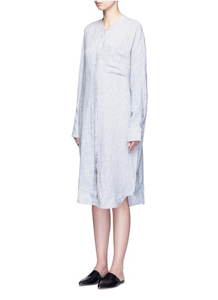Front View - Click To Enlarge - JAMES PERSE - Stripe dolman sleeve linen shirt dress