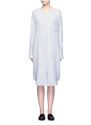 Main View - Click To Enlarge - JAMES PERSE - Stripe dolman sleeve linen shirt dress