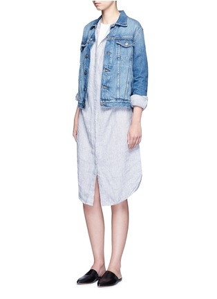 Figure View - Click To Enlarge - JAMES PERSE - Stripe dolman sleeve linen shirt dress