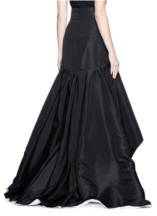 Back View - Click To Enlarge - Oscar de la Renta - Tulle insert ruffle silk faille skirt