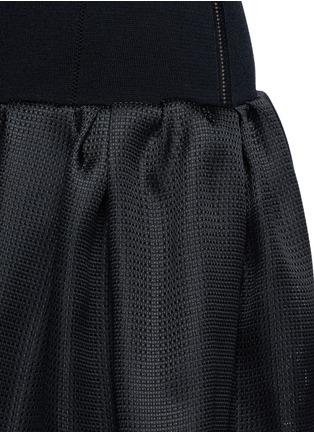Detail View - Click To Enlarge - OSCAR DE LA RENTA - Bell hem silk basketweave gazar skirt
