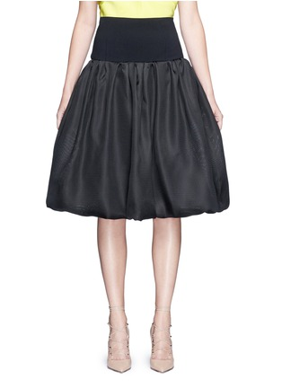 Main View - Click To Enlarge - OSCAR DE LA RENTA - Bell hem silk basketweave gazar skirt