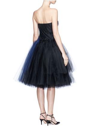 Back View - Click To Enlarge - Oscar de la Renta - Layered twist tulle strapless dress