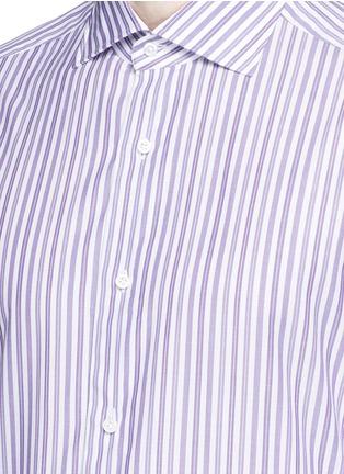 Detail View - Click To Enlarge - ISAIA - 'Milano' stripe cotton shirt