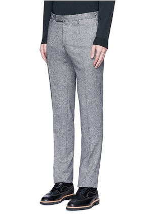 Front View - Click To Enlarge - Incotex - Slim fit wool hopsack pants