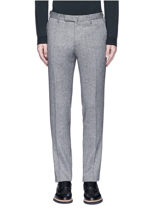 Main View - Click To Enlarge - Incotex - Slim fit wool hopsack pants
