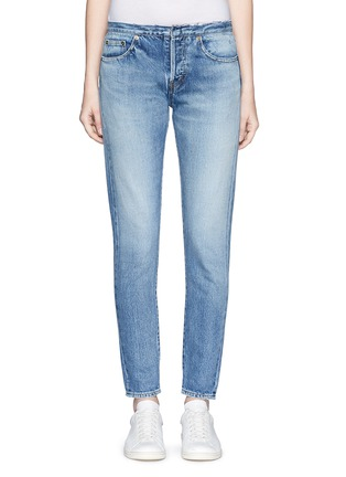 Detail View - Click To Enlarge - SAINT LAURENT - Original cut waistband boyfriend slim fit jeans