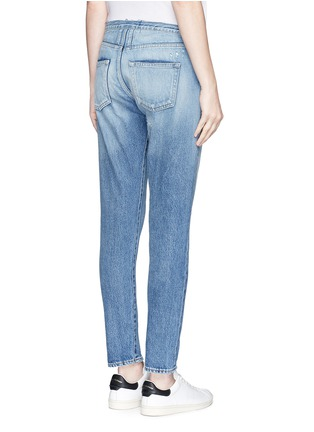 Back View - Click To Enlarge - SAINT LAURENT - Original cut waistband boyfriend slim fit jeans