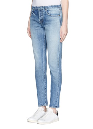 Front View - Click To Enlarge - SAINT LAURENT - Original cut waistband boyfriend slim fit jeans