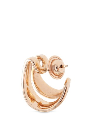 Detail View - Click To Enlarge - FERNANDO JORGE - 'Stream Lines' 18k rose gold double hoop earrings