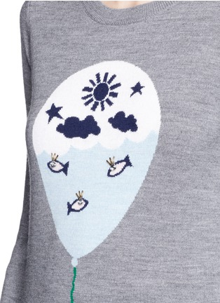 Detail View - Click To Enlarge - MARKUS LUPFER - 'Balloon Sailor' bead embellished Emma sweater