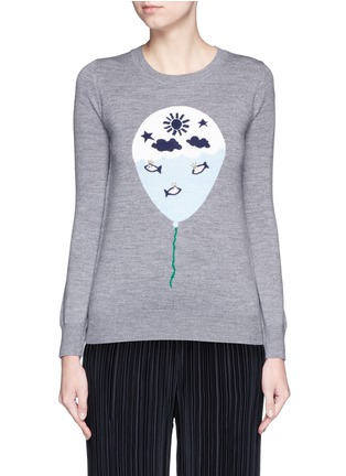 Main View - Click To Enlarge - MARKUS LUPFER - 'Balloon Sailor' bead embellished Emma sweater