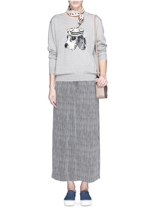 Figure View - Click To Enlarge - MARKUS LUPFER - 'Sailor Dog' sequin Joey sweater