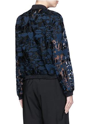 Back View - Click To Enlarge - MARKUS LUPFER - 'Stencil Cut' embellished Charlotte bomber jacket
