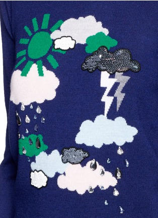Detail View - Click To Enlarge - MARKUS LUPFER - 'Weather Cycle' embellished Emma sweater
