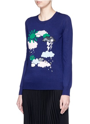 Front View - Click To Enlarge - MARKUS LUPFER - 'Weather Cycle' embellished Emma sweater