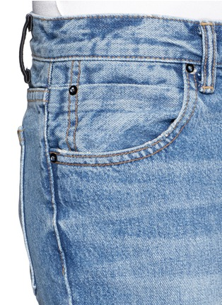 Detail View - Click To Enlarge - ALEXANDERWANG.T - 'Trap' light wash crop flare jeans