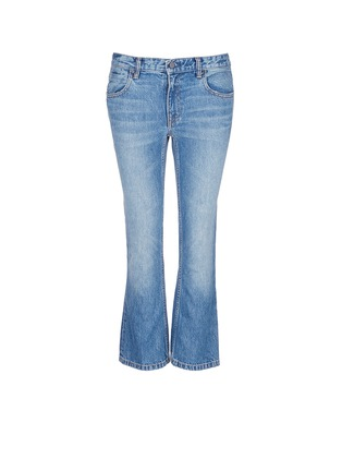Main View - Click To Enlarge - T By Alexander Wang - 'Trap' light wash crop flare jeans