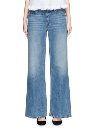 Detail View - Click To Enlarge - T By Alexander Wang - 'Rave' light wash wide leg jeans