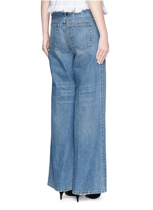 Back View - Click To Enlarge - T By Alexander Wang - 'Rave' light wash wide leg jeans