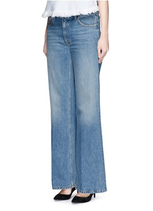 Front View - Click To Enlarge - T By Alexander Wang - 'Rave' light wash wide leg jeans