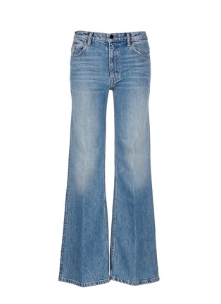 Main View - Click To Enlarge - T By Alexander Wang - 'Rave' light wash wide leg jeans