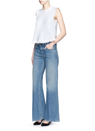 Figure View - Click To Enlarge - T By Alexander Wang - 'Rave' light wash wide leg jeans