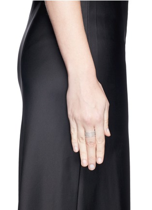 Figure View - Click To Enlarge - MESSIKA - 'Gatsby 5 Rangs' diamond 18k white gold ring
