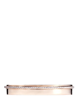 Main View - Click To Enlarge - Messika - 'Kate' diamond 18k rose gold bangle