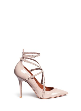 Main View - Click To Enlarge - Valentino - 'Love Latch' caged patent leather pumps
